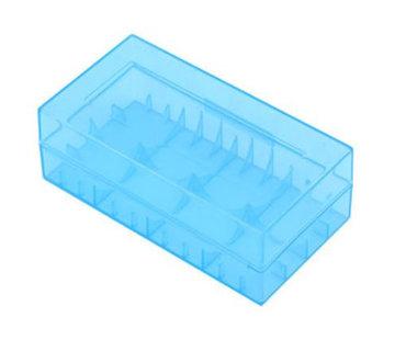 Dual 18650 Battery Case - Blue