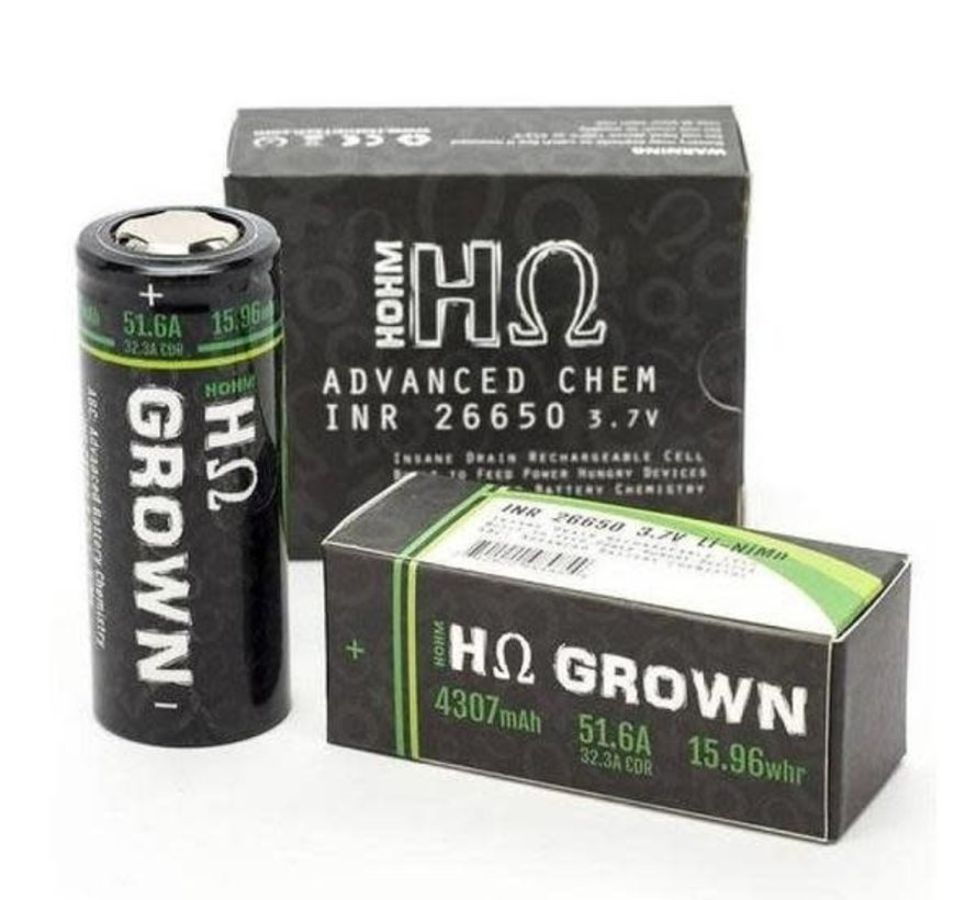 Hohm Tech Hohm Grown 26650 Battery - 2 Pack