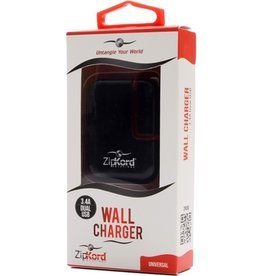 Zipkord Dual USB Wall Charger 2.1A - Black