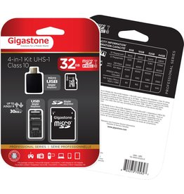 Gigastone 32GB 4-in-1 Kit Micro SD