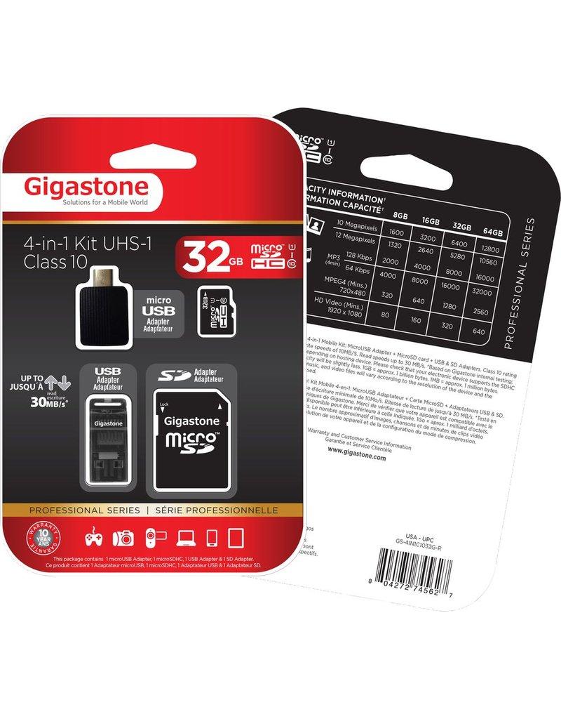 Gigastone 32GB 4-in-1 Kit Micro SD