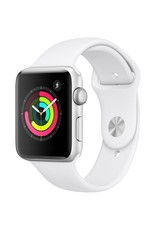 Apple Watch Series 3 GPS, 38mm Silver Aluminum Case with White Sport Band