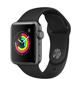 Apple Watch Series 3 GPS, 38mm Space Gray Aluminum Case with Black Sport Band