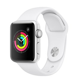 Apple Watch Series 3 GPS, 42mm Silver Aluminum Case with White Sport Band