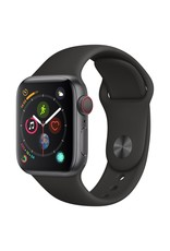 Apple Watch Series 4 GPS, 44mm Space Gray Aluminum Case with Black Sport Band