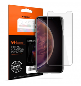 Spigen iPhone XS Max Screen Protector Glas.tR SLIM HD Clear