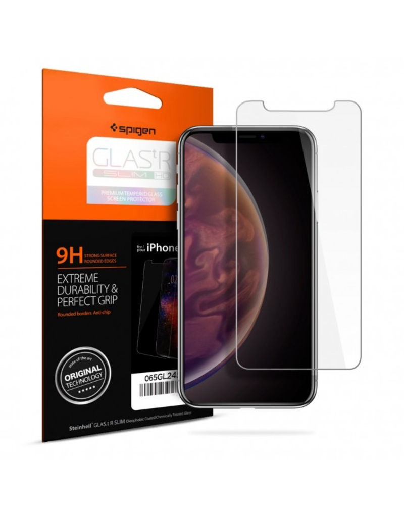 Spigen iPhone XS Max Screen Protector Glas.tR SLIM HD Clear