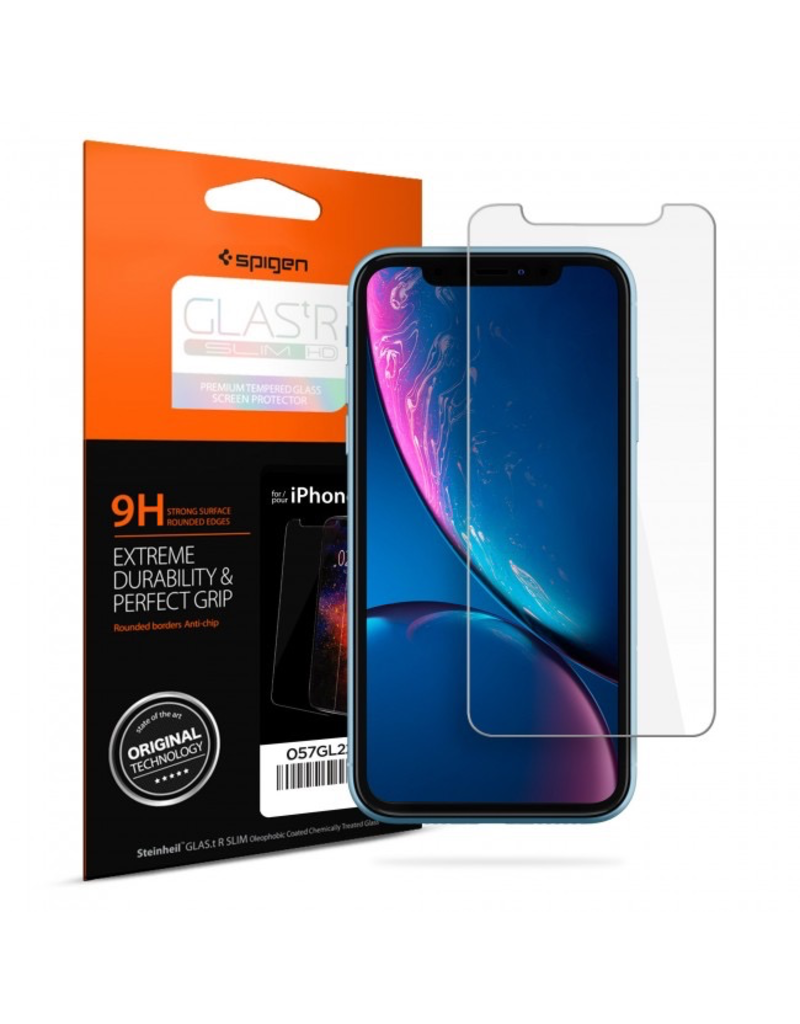 Spigen iPhone XR Screen Protector Glas. tR SLIM HD Clear