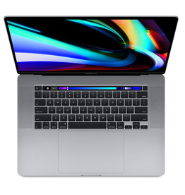 16-inch MacBook Pro with Touch Bar: 2.6GHz 6-core 9th-generation Intel Core i7 processor, 512GB - Space Gray