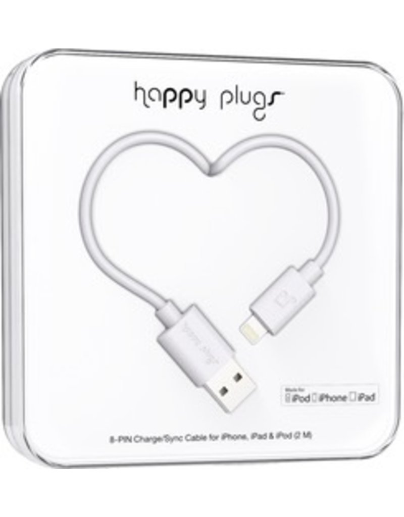 Happy Plugs Lightning to USB Cable - White