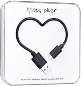 Happy Plugs Micro USB - Black