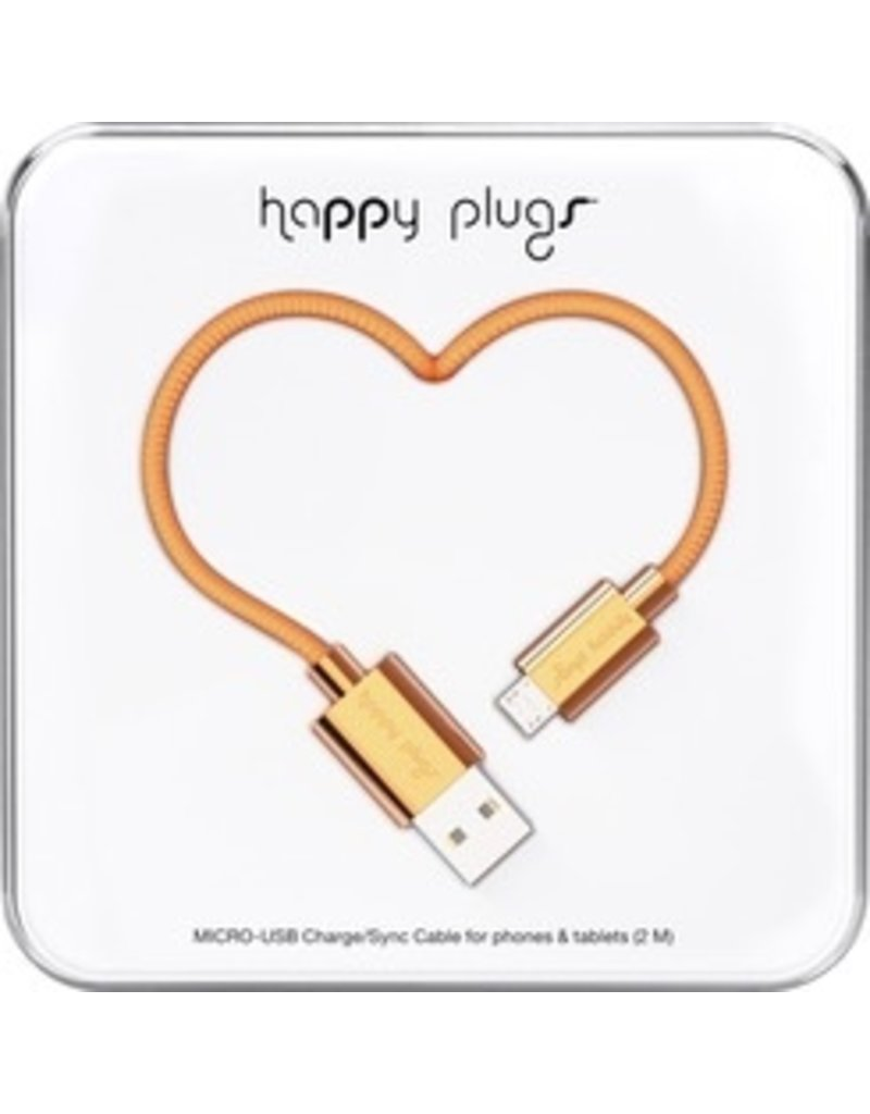 Happy Plugs Micro USB Cable - Copper