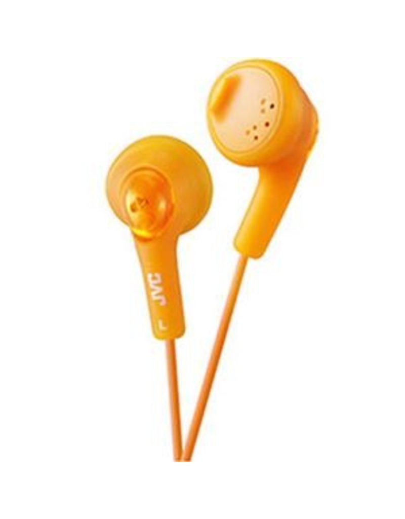Orange JVC Gumy Headphones