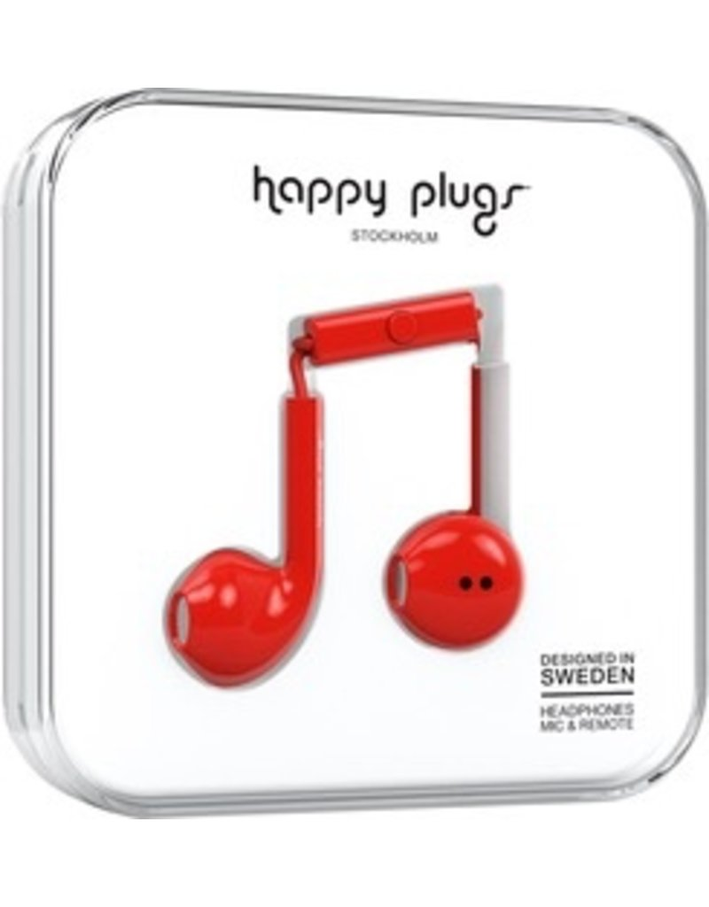 Happy Plugs Earbuds Plus w/mic - Red