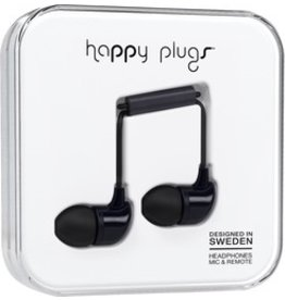 Happy Plugs In-Ear w/mic - Black