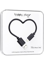 Happy Plugs Lightning to USB Cable - Black
