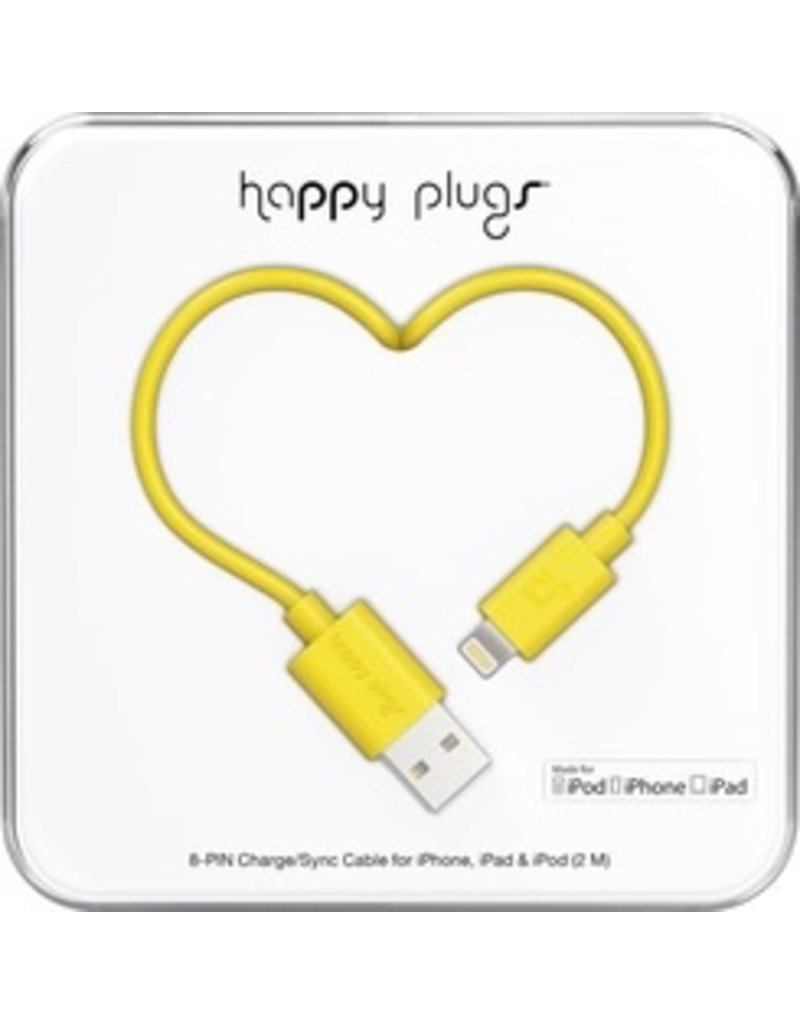 Happy Plugs Lightning to USB Cable - Yellow