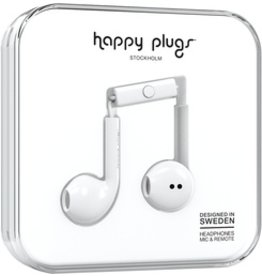 Happy Plugs Earbuds Plus w/mic- White