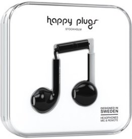 Happy Plugs Earbuds Plus w/mic - Black