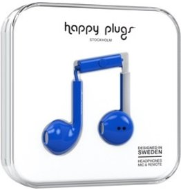 Happy Plugs Earbuds Plus w/mic - Blue