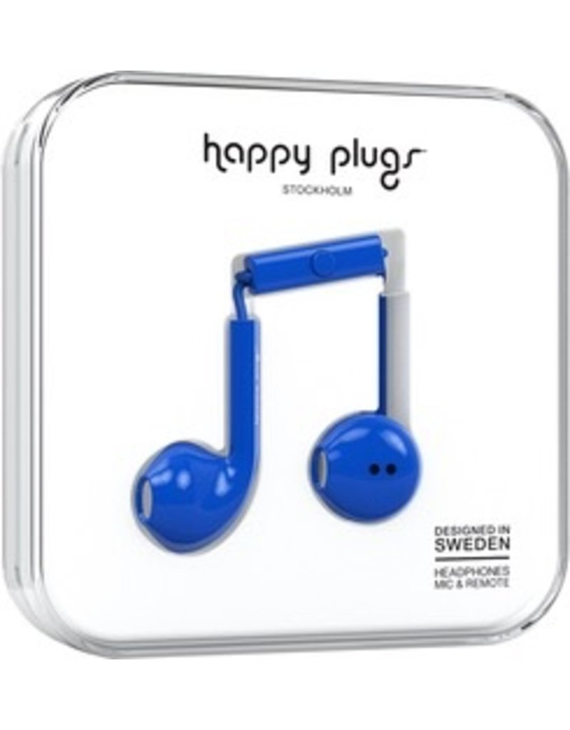 Happy Plugs Earbuds Plus w/mic - Blue
