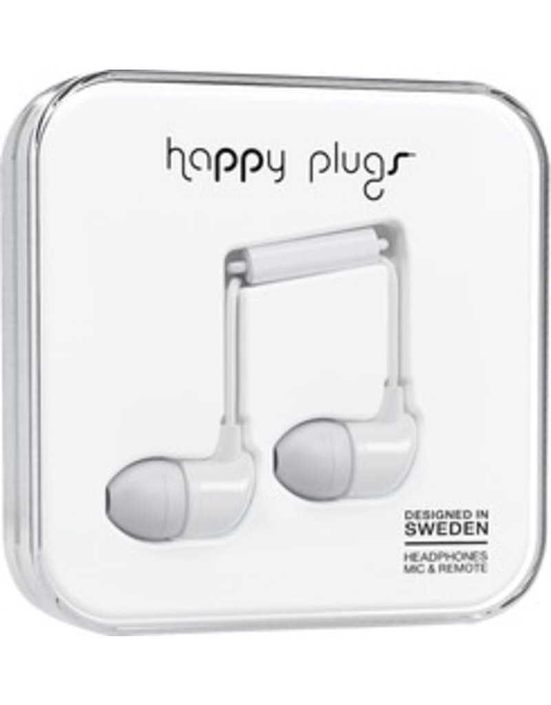 Happy Plugs In-Ear w/mic - White