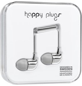 Happy Plugs In-Ear w/mic - Silver