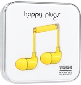 Happy Plugs In-Ear w/mic - Yellow