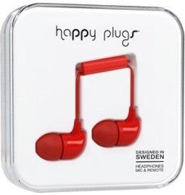 Happy Plugs In-Ear w/mic - Red