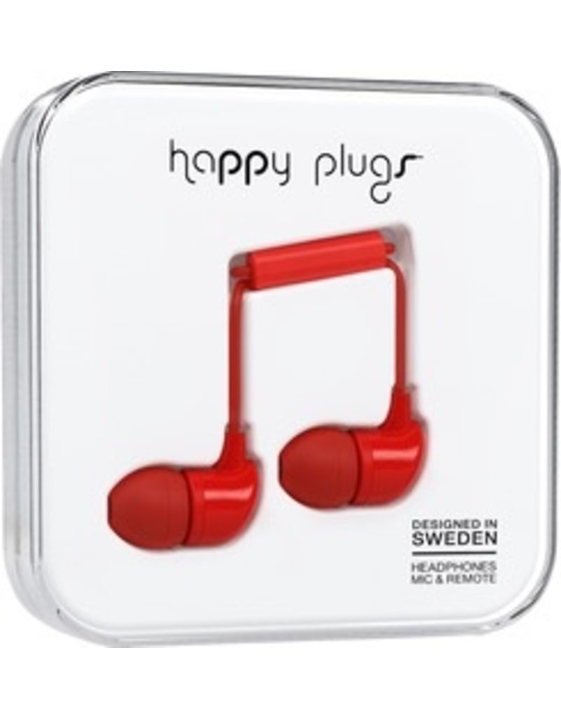 Happy Plugs In-Ear w/mic - Red