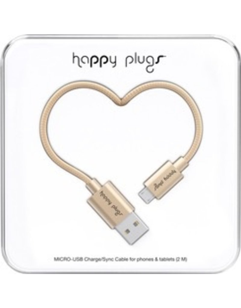 Happy Plugs Micro USB Cable - Gold