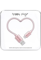 Happy Plugs Micro USB Cable - Pink Gold
