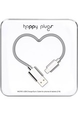 Happy Plugs Micro USB Cable - Silver