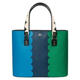 Orla Kiely Giant Scallop Leather - Tilly bag - Marine