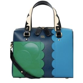 Orla Kiely Giant Scallop Leather - Cicely Bag - Marine