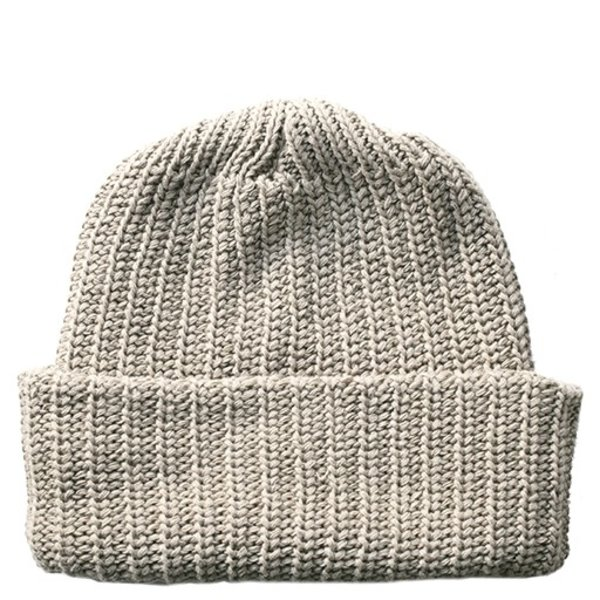 Solid Cotton Knit Hat - Old Gold