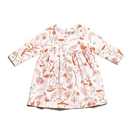 Winter Water Factory Geneva Baby Dress - Leaves and Bugs
