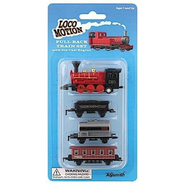 Locomotion Pull Back Train Set