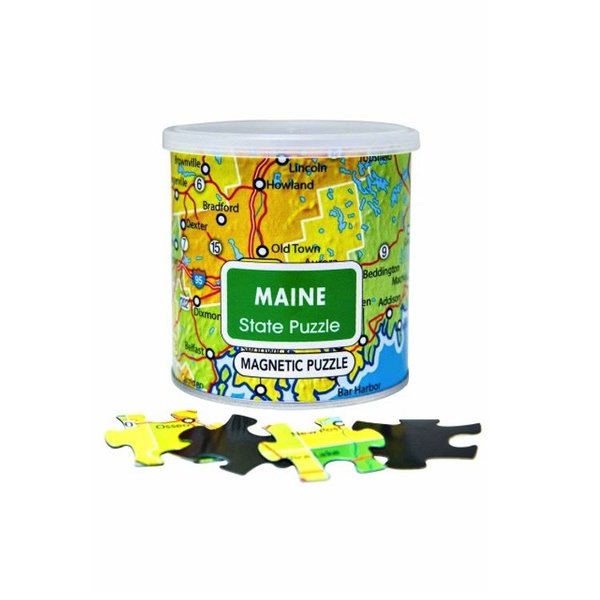Geotoys Geotoys 100 Piece Magnetic Puzzles - Maine