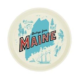 Daytrip Society Retro Maine Round Tray
