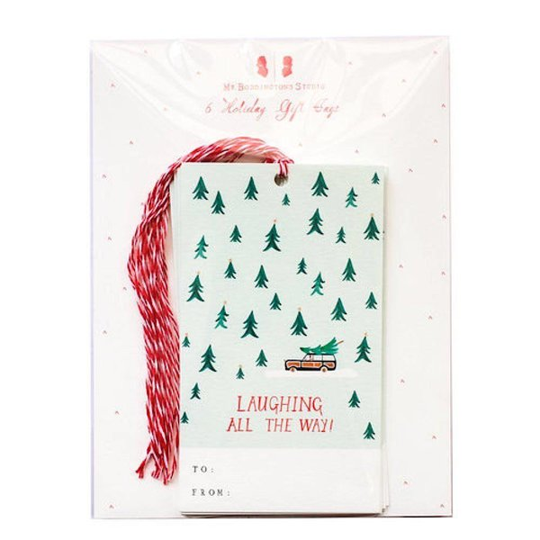 Mr. Boddington's Studio Mr. Boddington's Studio Laughing All The Way Gift Tag - Set of 6