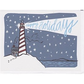 Daytrip Society Lighthouse Happy Holidays Card - Set of 10