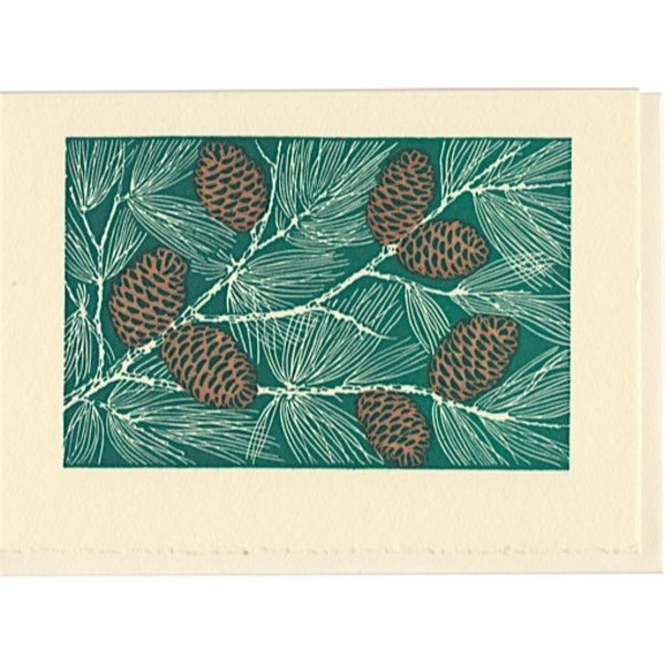 Saturn Press Holiday Card Box - Pinecones