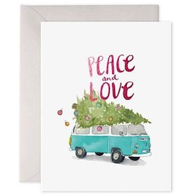 E Frances Paper E Frances Holiday VW Bus Card