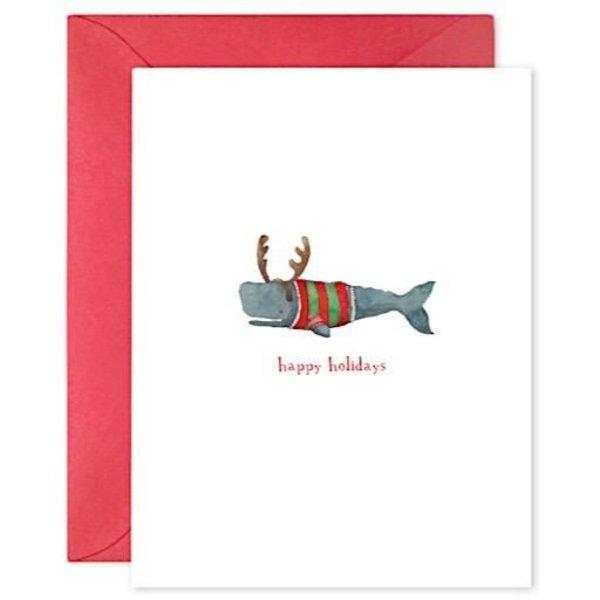 E Frances Paper E Frances Christmas Whale Card