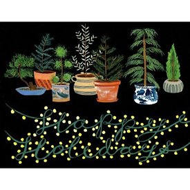 Small Adventure - Potted Evergreen Holiday Card