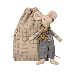 Maileg Mouse - Winter Father in Bag