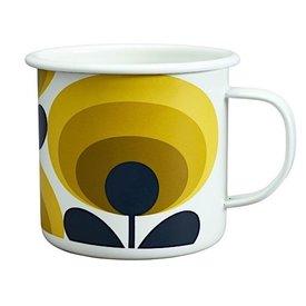 Orla Kiely Enamal Mug - 70s Flower Oval - Dandelion