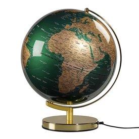 """Globe Light 12"""" - Fir Green & Brass"""