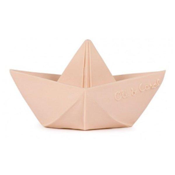 Oli & Carol Oli & Carol Origami Boat - Nude Teether